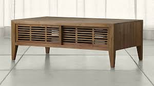 marin natural solid wood coffee table crate and barrel