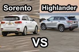 nissan highlander 2015 2016 kia sorento vs 2015 toyota highlander design youtube