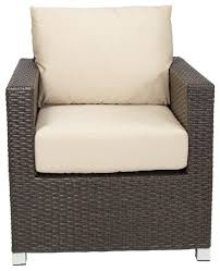 Venice Outdoor Furniture by Venice Club Chair With Sunbrella Cushions Espresso Brown