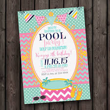 pool party invitation swim party invitations by sugarandspicenola