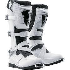 white motocross boots thor quadrant 3 ratchet boots white or black grips bikes