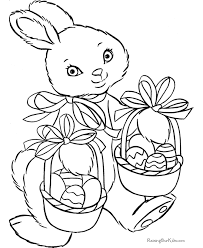 easter bunny coloring sheet 010