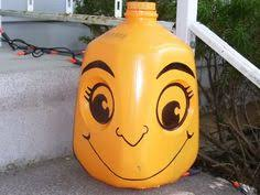 Halloween Decorations Using Milk Jugs - use milk jugs to make halloween monsters add glow sticks and fill