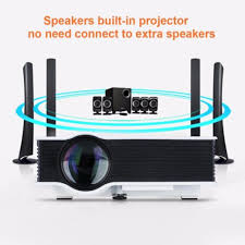 home theater connection to led tv amazon com coolbiz led video projector 1200lumens 1080p office