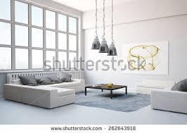big sofa carpet living room modern stock illustration 262643918