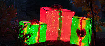 pre lit christmas gift boxes pvc frame lighted gift boxes