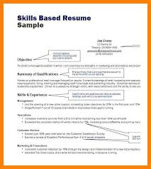 Resume Template Skills Based 4 Skill Based Resume Example Cv For Teaching