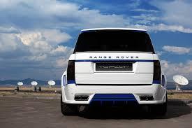 blue range rover range rover lumma clr r white and blue topcar
