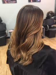 honey brown hair with blonde ombre spring and summer balayage highlights for brown and dark brown