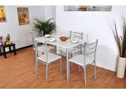 table et chaise cuisine conforama ensemble table rectangulaire 4 chaises tuti coloris blanc gris
