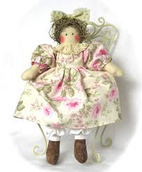 cotton candy dolls vintage style rag doll