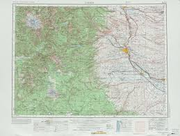 Walla Walla Washington Map by Yakima Topographic Maps Wa Usgs Topo Quad 46120a1 At 1 250 000