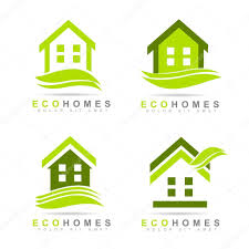 Real Estate Logo Templates by Ecological Houses Real Estate Logo Design U2014 Stock Vector