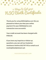 Authorization Letter Birth Certificate michi photostory 3 ways to get your nso birth certificate