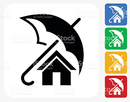 Home Design Stock Images by Home Insurance Icon Flat Graphic Design Stock Vector Art 486294892