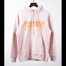 pink sweaters fiery label hooded sweater pink