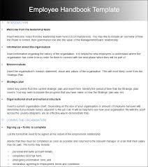 employee handbook template code4countryorgsample proceduresample