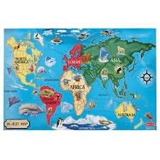 World Map Australia by U0026 Doug 33 Pc World Map Floor Puzzle