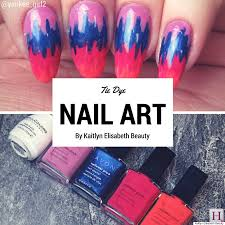 nail art an easy tie dye design for summer