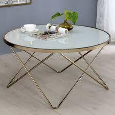 Metal And Glass Coffee Table White Coffee Tables You U0027ll Love Wayfair