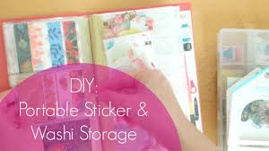 Washi Tape What Is It Easy Diy Portable Sticker And Washi Tape Storage Youtube