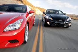 top speed hyundai genesis coupe 2010 hyundai genesis coupe 3 8 vs 2009 infiniti g37 coupe