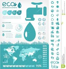 water conservation infographic template royalty free stock photos