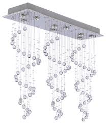 Contemporary Modern Chandeliers Modern Chandelier Rain Drop Crystal Ball Ceiling Lamp