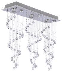 Contemporary Modern Chandeliers Modern Chandelier Rain Drop Crystal Ball Ceiling Lamp