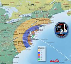 Usa East Coast Map Orbital 3 Launch Viewing Map U2013 Elevation Nasa
