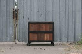 Vintage Oak Filing Cabinet Modern Industrial File Cabinet Reclaimed Vintage Wood Filing