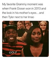 Frank Ocean Meme - my favorite grammy moment was when frank ocean won in 2013 and the