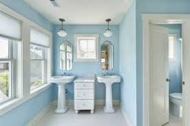 baby bathroom ideas bathrooms baby blue bathroom with pedestal sinks and small