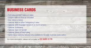 Business Cards Next Day Delivery Business Cards Digital Printing Australia