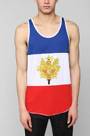 Flag Clothing Lyst Urban Outfitters France Flag Tank Top In Red For Men