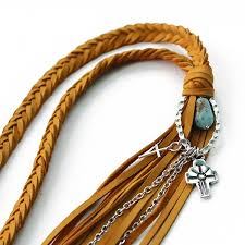 charm leather necklace images Braided leather charm necklace lucky lou designs jpg