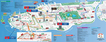 New York City Map Of Manhattan by New York City Tourist Map Red