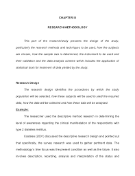 How to write the methodology section of a dissertation www