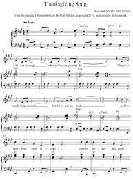 thanksgiving song sheet stillsonworks