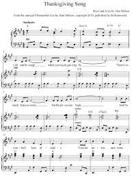 thanksgiving song sheet stillsonworks