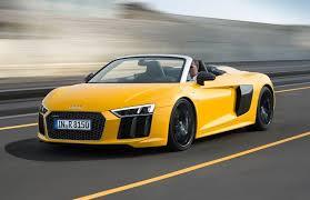 sports car audi r8 audi debuts drop top 2017 r8 v10 spyder sports car j d power cars