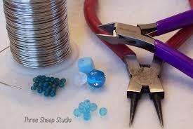 three sheep studio how to make a beaded ornament hanger