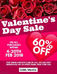 valentines sales customizable design templates for valentines sales event template