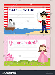You Are Invited Card Princess Pirate Invitation Card Stock Vector 193687727 Shutterstock