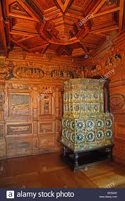 the marquetry hunting room horn room with its ornate coffered