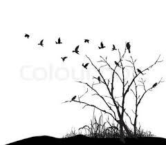 tree and bird stock vector colourbox