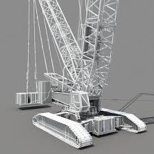 3d crawler crane cgtrader