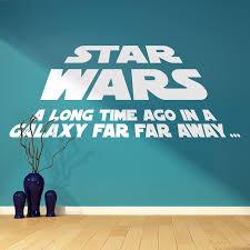 star wars a long time ago quote vinyl wall art sticker bedroom a long time ago in a galaxy far far away vinyl wall art