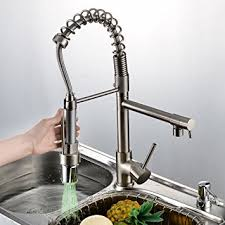 Rozin Nickel Brushed LED Colors Changing Kitchen Sink Faucet Brass - Brass kitchen sink