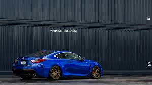 bronze lexus photo ultrasonic blue lexus rc f on 20 inch bronze vossen vfs 2